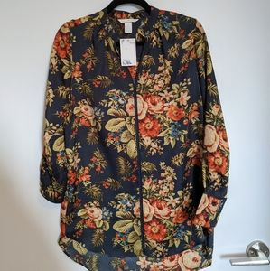 NWT H&M floral tunic